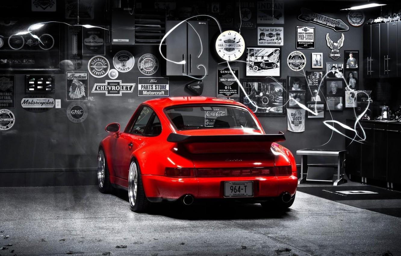 Photo wallpaper 911, turbo, red, porsche, 964