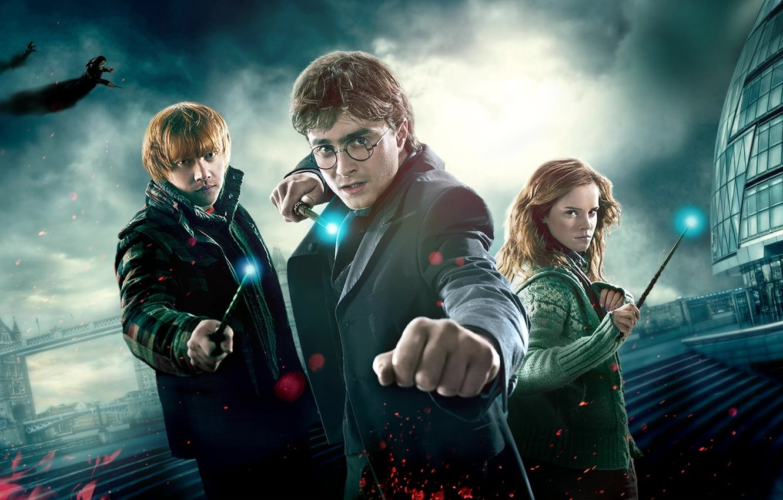 Wallpaper Harry Potter Ron Weasley Hermione Granger Harry