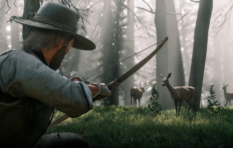 hat, bow, hunting, deer