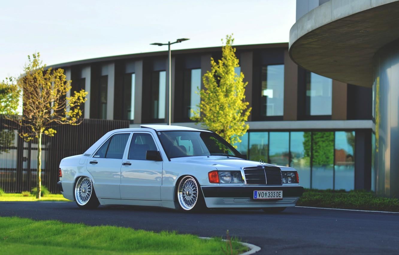 Photo wallpaper Mercedes - Benz, w201, 190e, 1.8