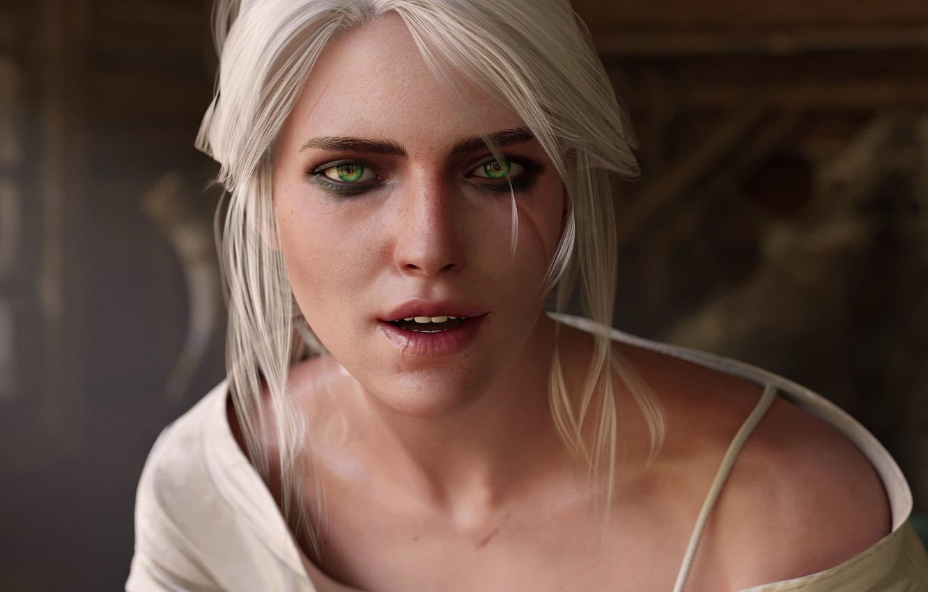 Photo wallpaper Look, The Witcher 3 Wild Hunt, The Witcher 3 Wild Hunt, CRIS, Cirilla, Cirilla