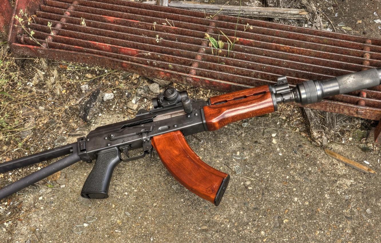 Photo wallpaper weapons, Machine, Gun, weapon, Kalashnikov, AKM, Assault rifle, Russian, AKM, assault rifle, assault Rifle