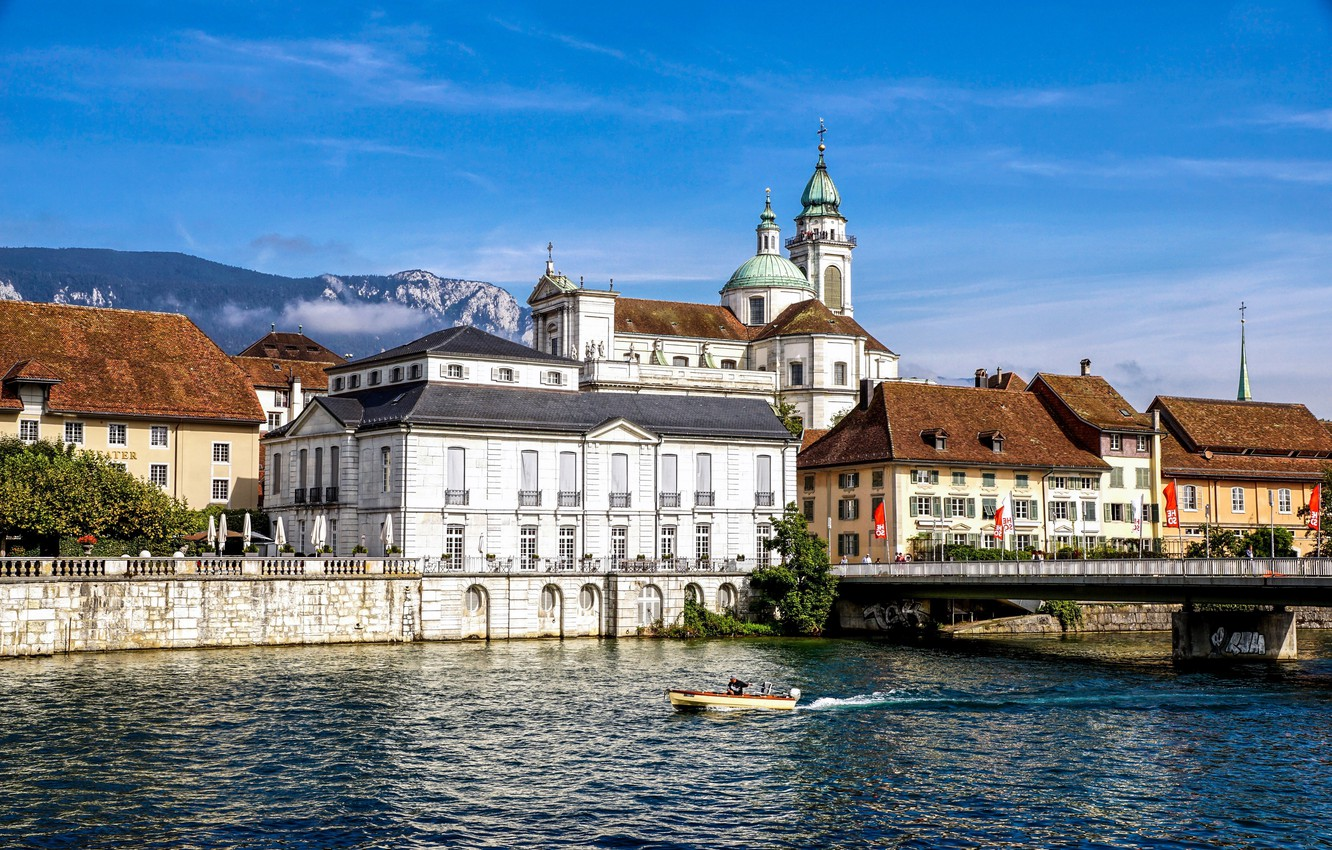 Photo wallpaper Switzerland, Cathedral, Solothurn, Solothurn, St. Ursus Cathedral