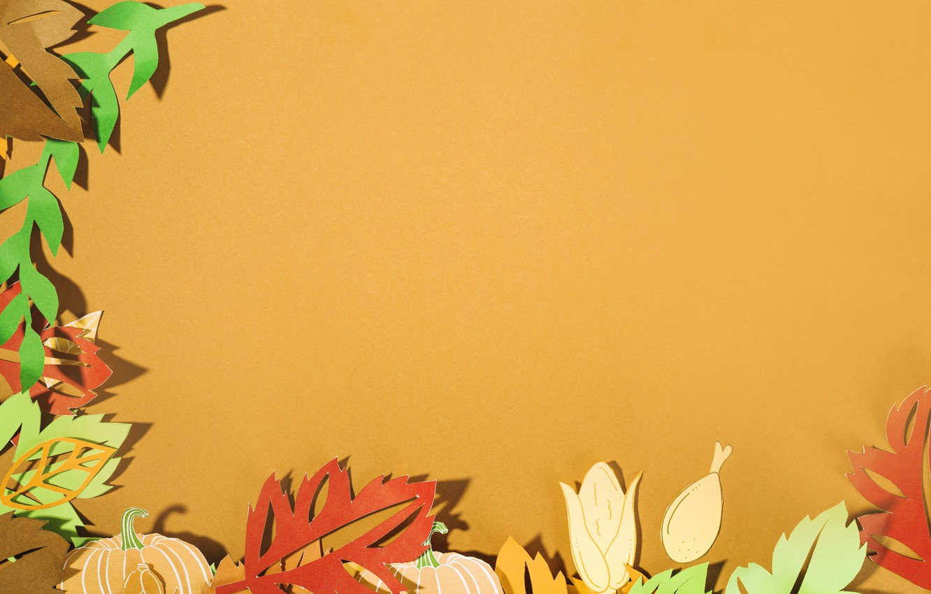 Photo wallpaper autumn, leaves, background, colorful, background, autumn, leaves, autumn, paper, paper