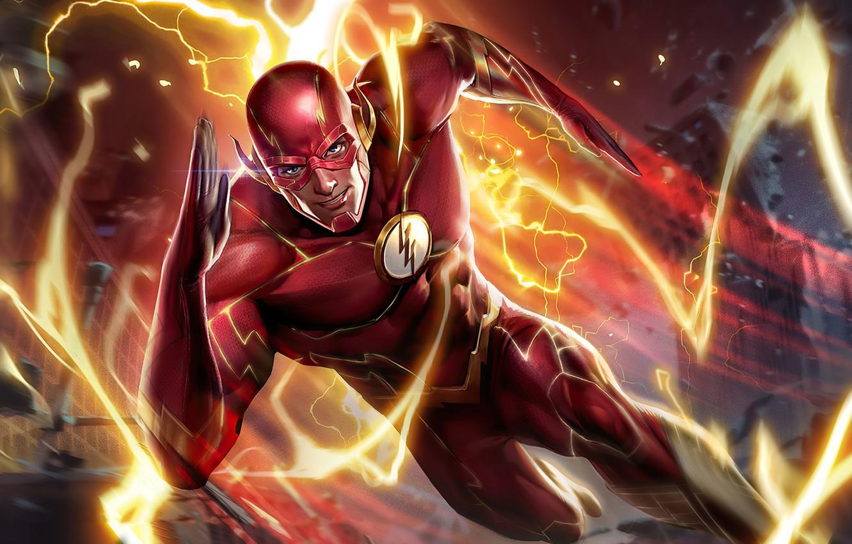 Photo wallpaper Hero, Lightning, Flash, Speedforce, Arena of Valor