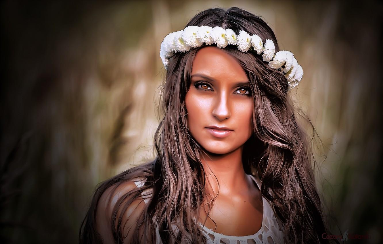 Photo wallpaper grass, brown hair, model, beauty, Alex Kotarski