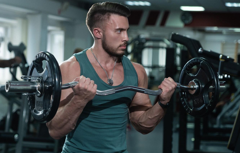 Photo wallpaper power, male, rod, rocking, gym