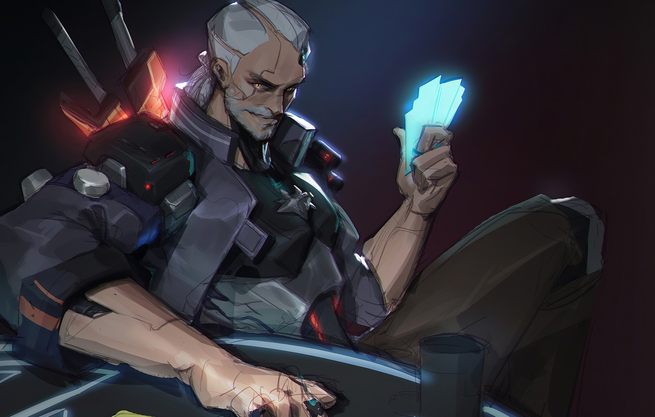 Photo wallpaper the game, art, male, The Witcher 3: Wild Hunt, Geralt of Rivia, The Witcher 3: …