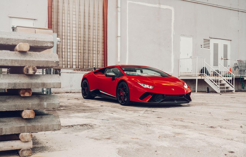 Photo wallpaper Lamborghini, Italy, RED, VAG, Performante, Huracan