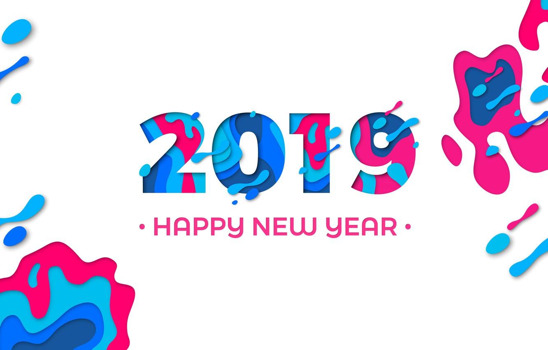 Photo wallpaper figure, graphics, new year, new year, 2019