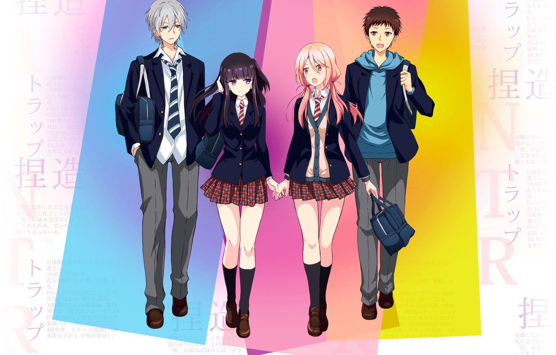 Photo wallpaper anime, art, characters, Netsuzou Trap, A trap of lies
