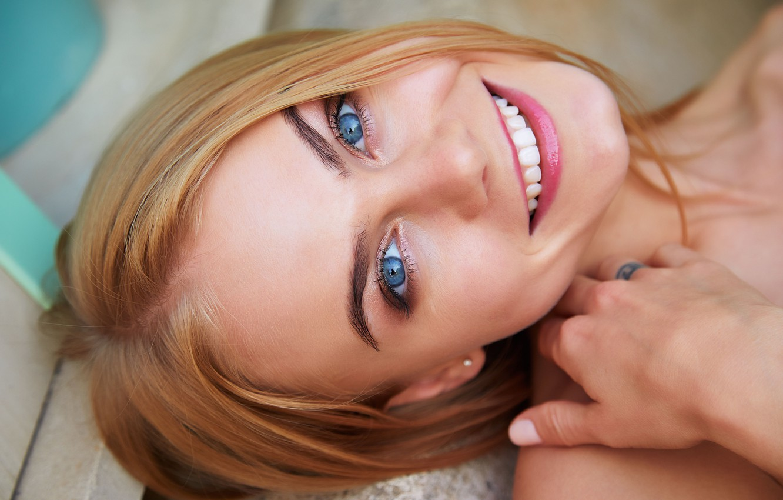 Photo wallpaper eyes, look, face, smile, Nancy A