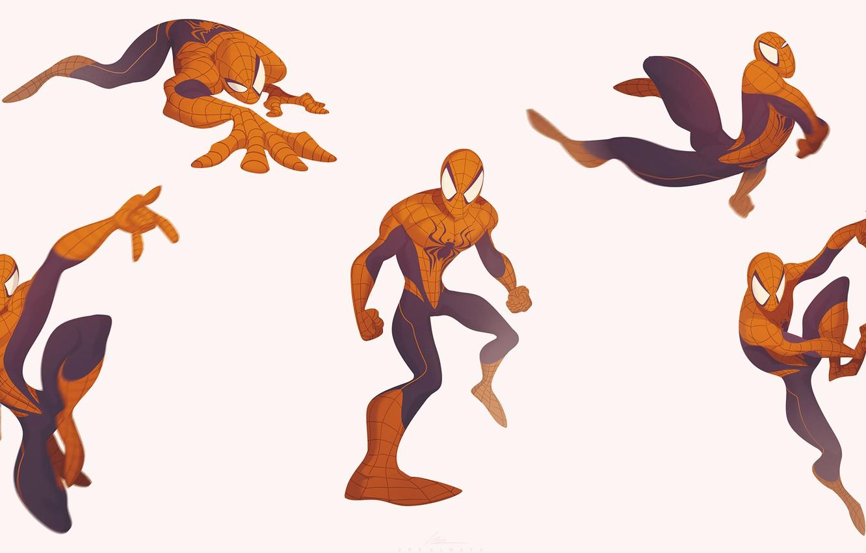 Photo wallpaper Minimalism, Costume, Marvel, Spider-man, Comics, Suit, Spider-Man, Peter Parker, Peter Parker, Minimalism, Marvel, Comics, by …