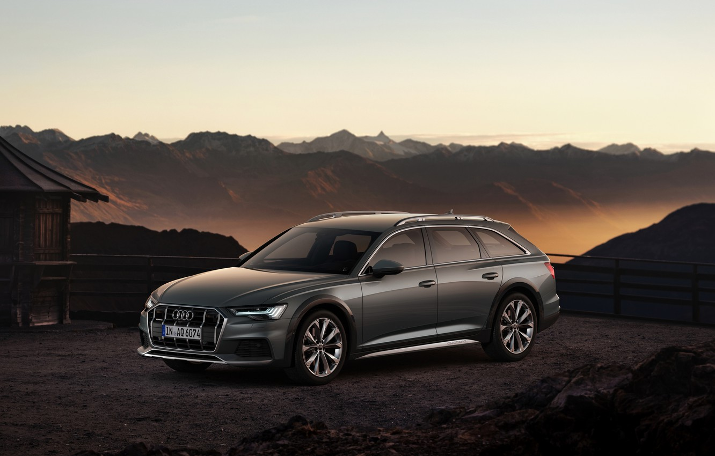 Photo wallpaper mountains, Audi, Quattro, universal, 2019, A6 Allroad
