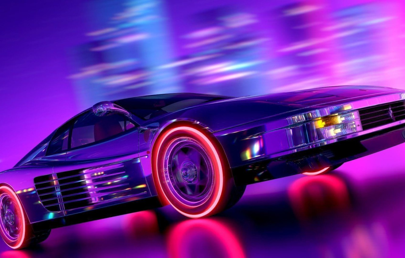 Wallpaper Music Neon Background Ferrari Neon Rendering Testarossa Synth Retrowave Synthwave Ferrari Testarossa New Retro Wave Futuresynth Sintav Retrouve Outrun Images For Desktop Section Rendering Download