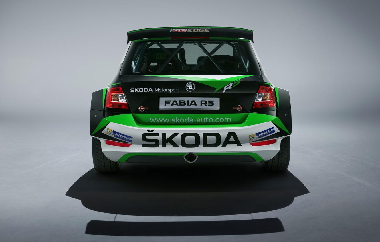 Photo wallpaper Concept, rear view, Skoda, 2019, Fabia R5