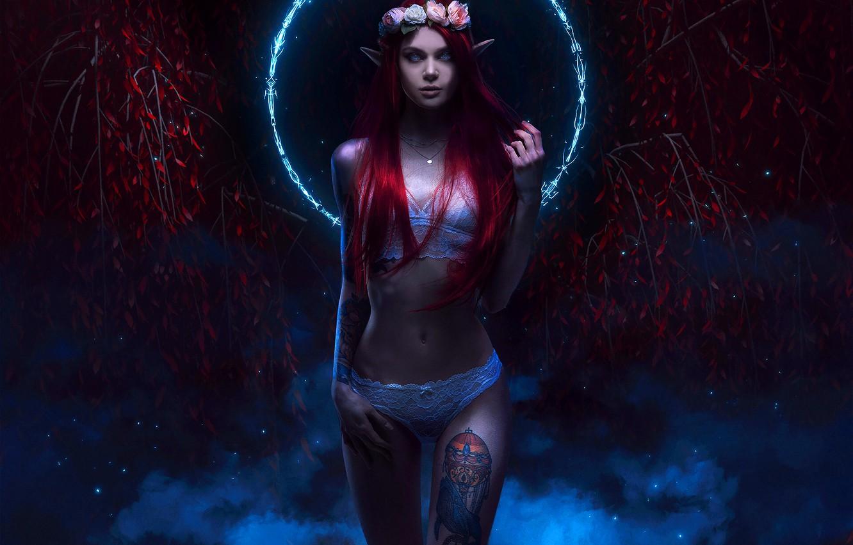 Photo wallpaper Girl, Style, Body, Girl, Elf, Tattoo, Fantasy, Tattoo, Elf, Erotic, Art, Beautiful, Sexy, Tattoo, Art, …