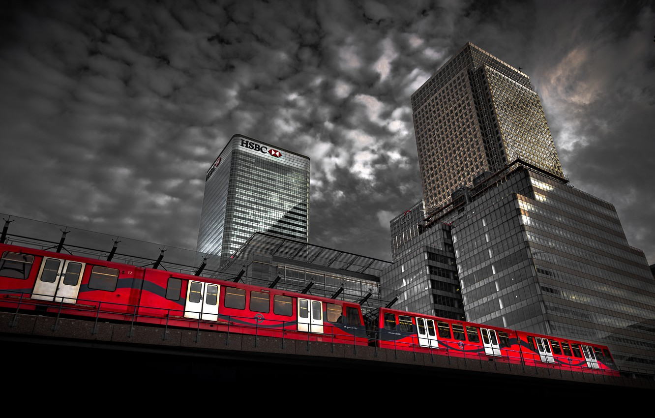 Photo wallpaper England, Canary Wharf, Tower Hamlets, A Promise to Pay