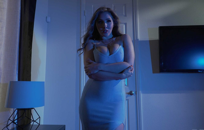 Photo wallpaper girl, dress, Lena Paul