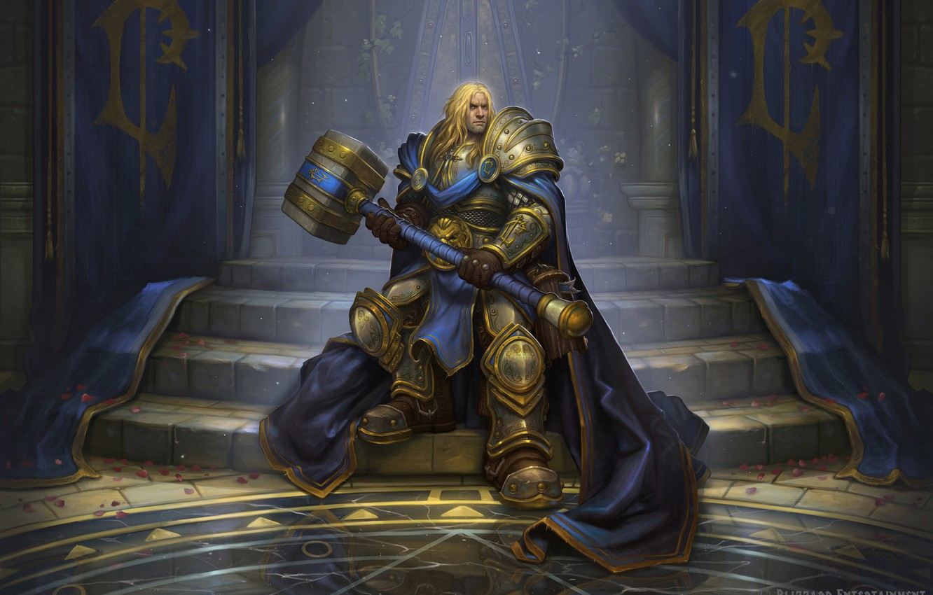 Photo wallpaper Warcraft, Blizzard, Paladin, Arthas, Illustration, Eric Braddock, Characters, Game Art, by Eric Braddock, Crown Prince ...