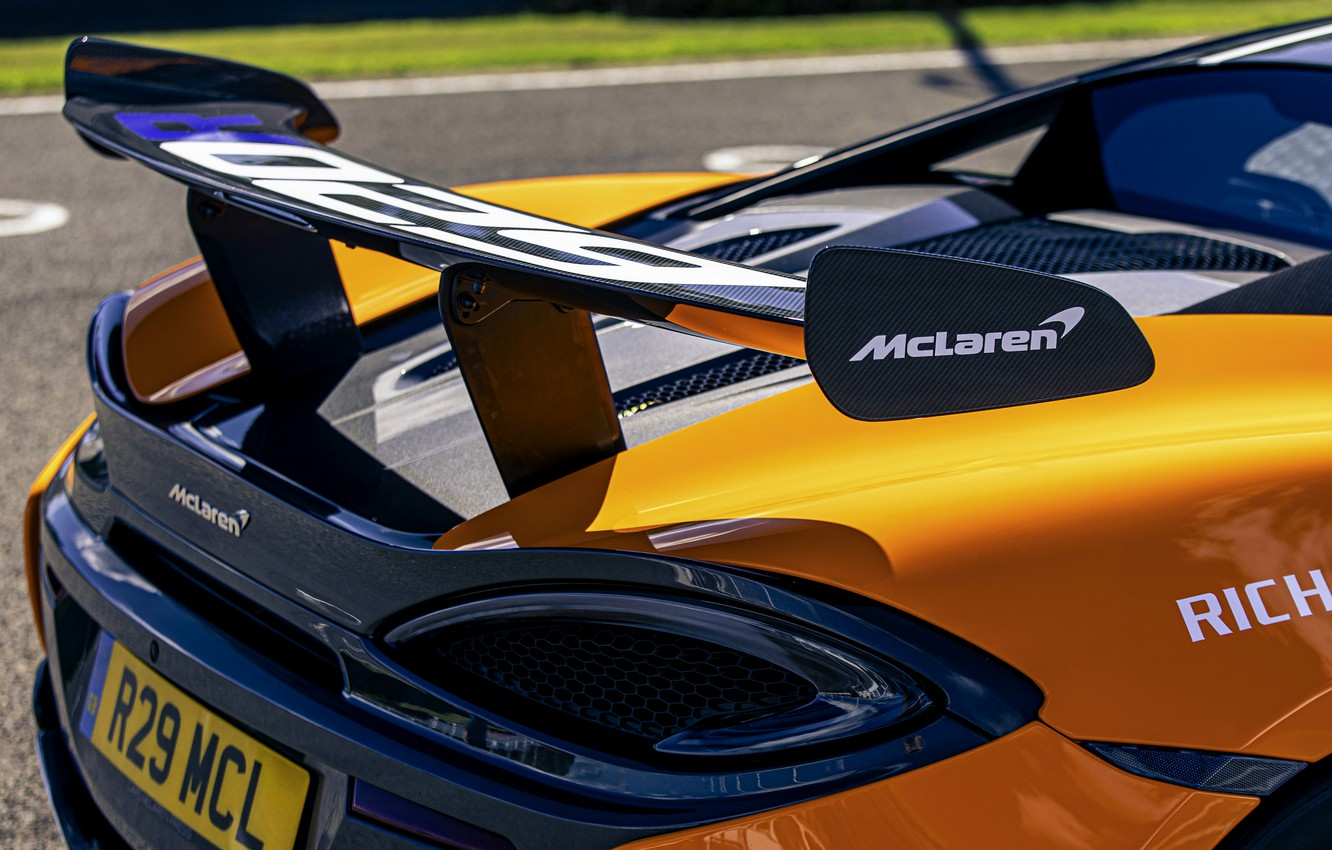 Photo wallpaper coupe, McLaren, wing, 2020, V8 twin-turbo, 620R, 620 HP, 3.8 L.
