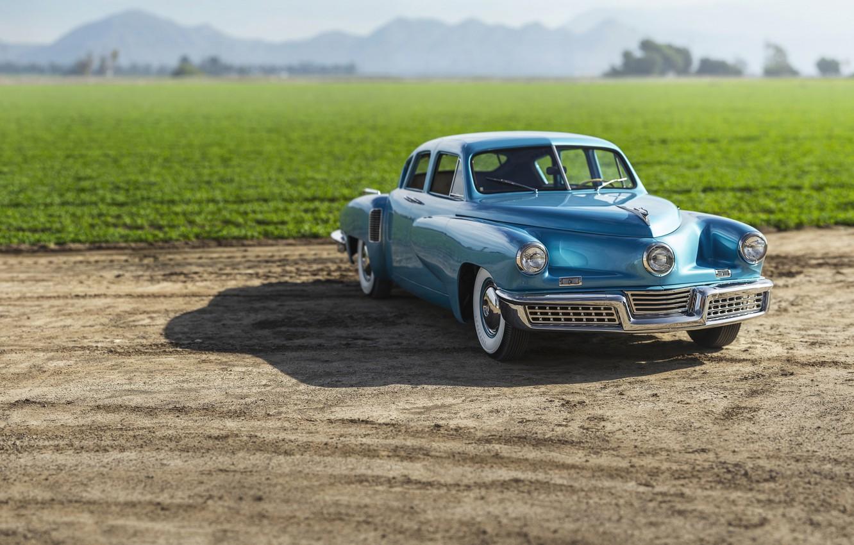 Photo wallpaper blue, Vintage, Studebaker