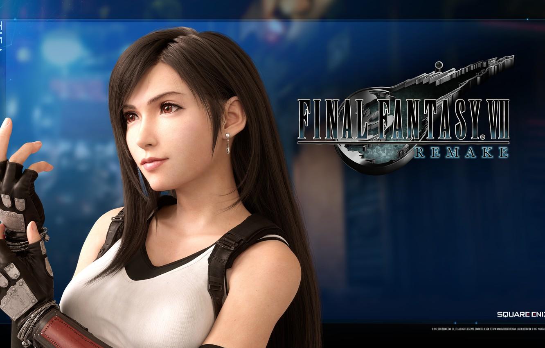 Photo wallpaper girl, Tifa Lockhart, Tifa Lockhart, Final Fantasy VII Remake