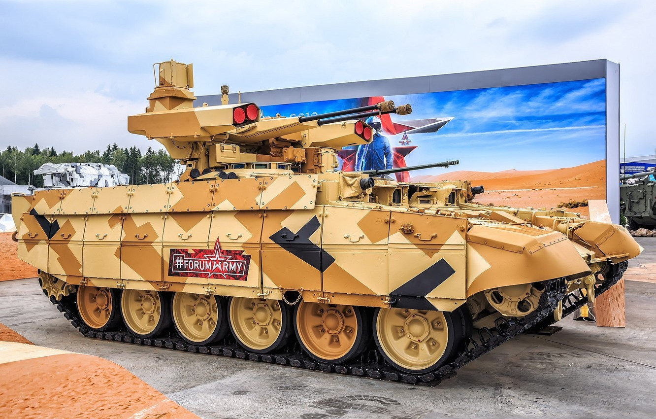 Photo wallpaper armor, Terminator, BMPT, The Russian Army, Exhibition, Object 199, Forum «ARMY 2018»