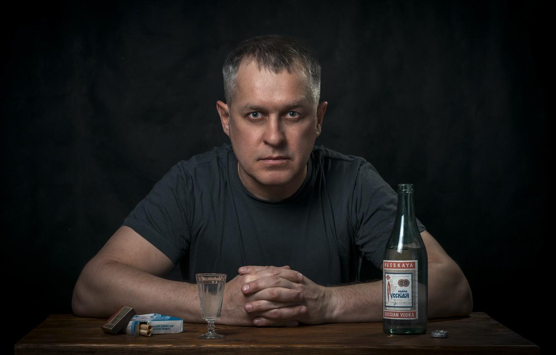 Photo wallpaper people, bottle, portrait, cigarette