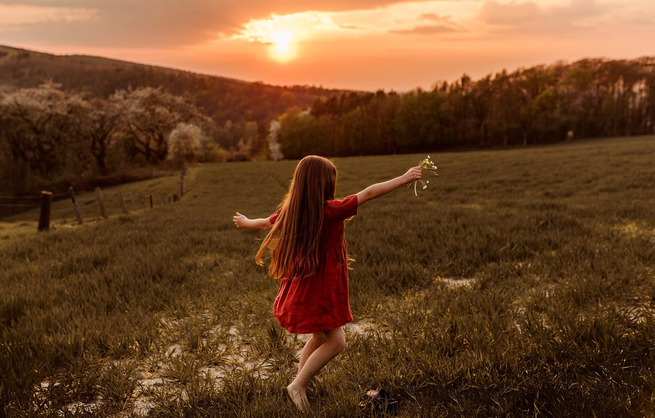 Photo wallpaper freedom, nature, life, the world, girl