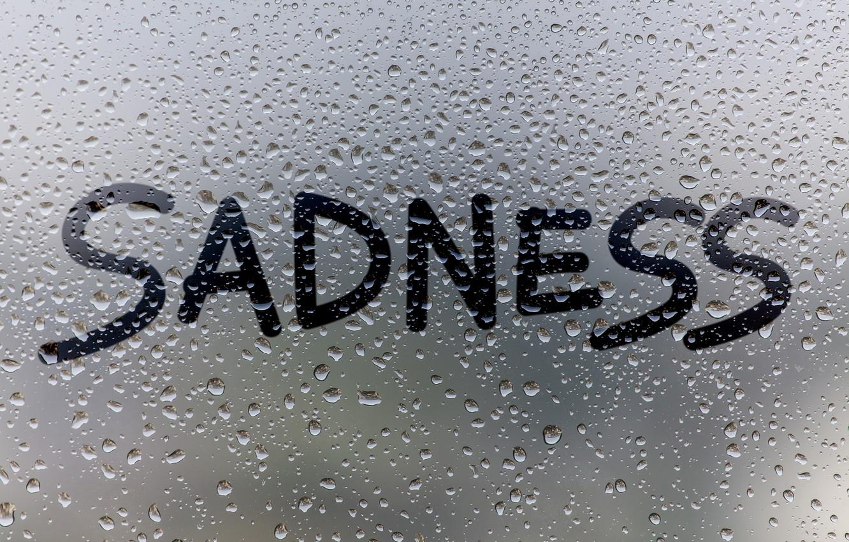 Photo wallpaper glass, water, drops, rain, window, rain, sadness, window, drops