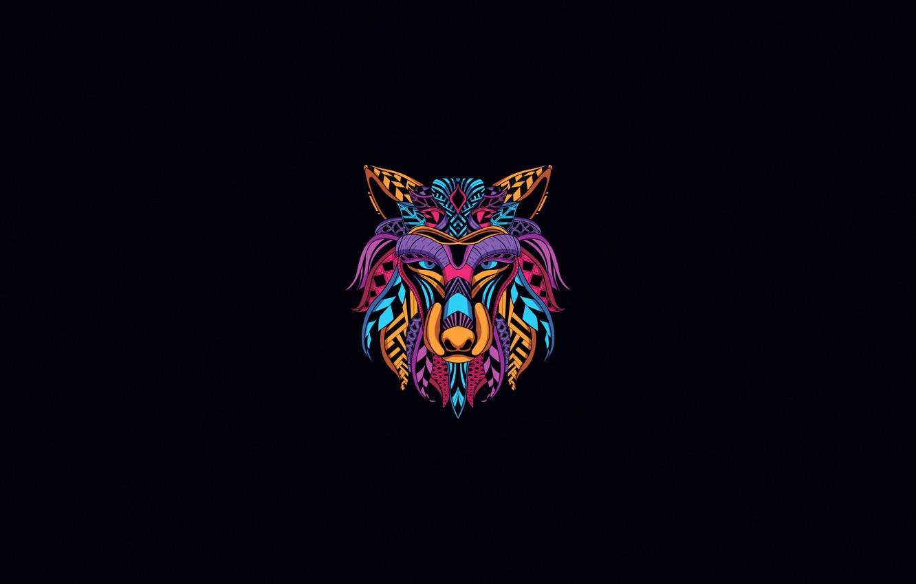 Wallpaper Minimalism Style Background Wolf Abstract Style Color Neon Wolf Background Illustration Minimalism Animal Decoration Animal Head Images For Desktop Section Minimalizm Download