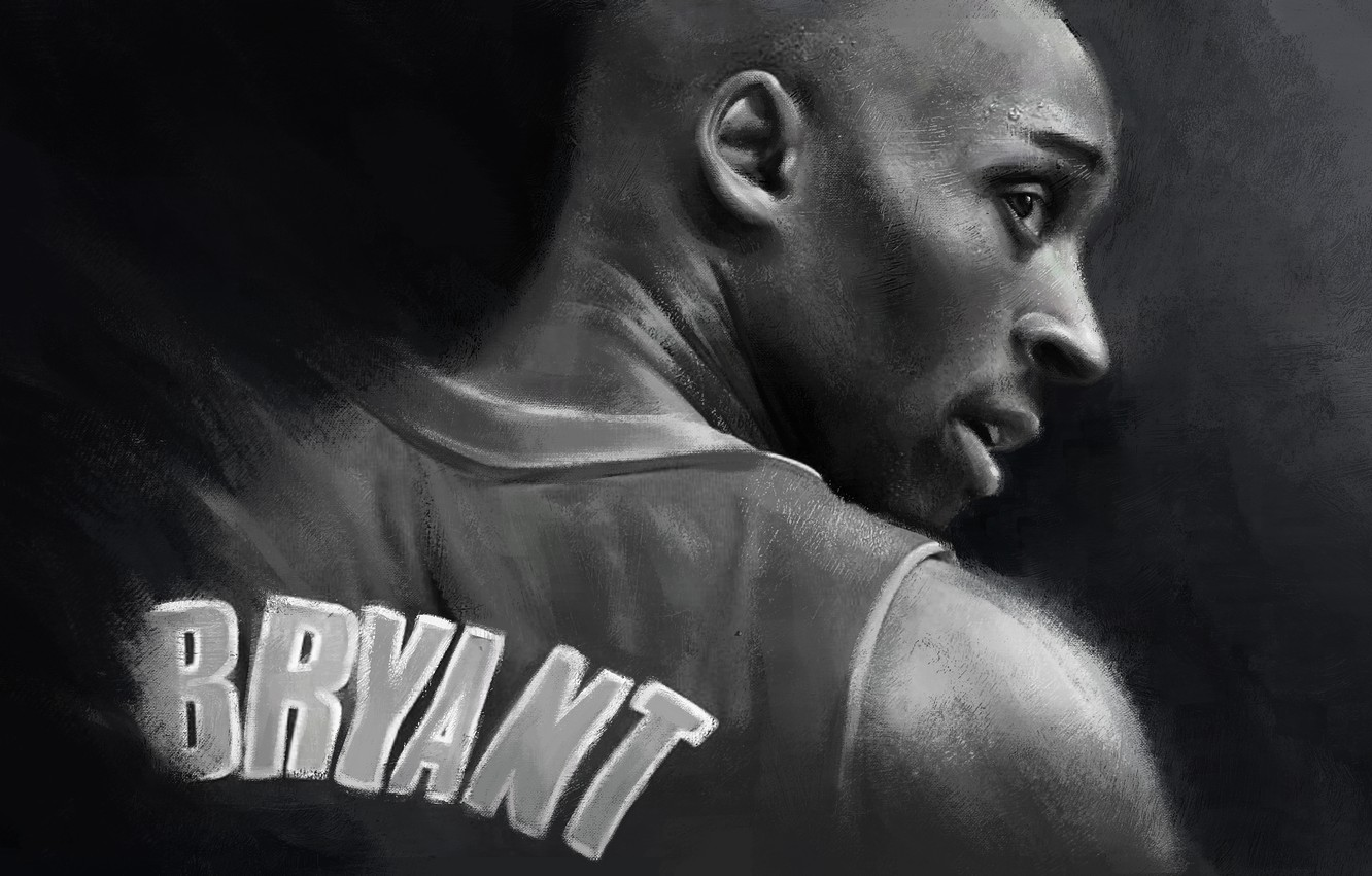 Wallpaper Art Legend Nba Kobe Bryant Basketball Kobe Los Angeles Lakers Black Mamba Drawing Mamba Images For Desktop Section Sport Download