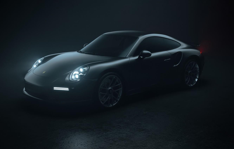 Photo wallpaper Auto, 911, Porsche, Machine, Grey, Porsche 911, Rendering, Turbo S, Porsche 911 Turbo S, Transport …