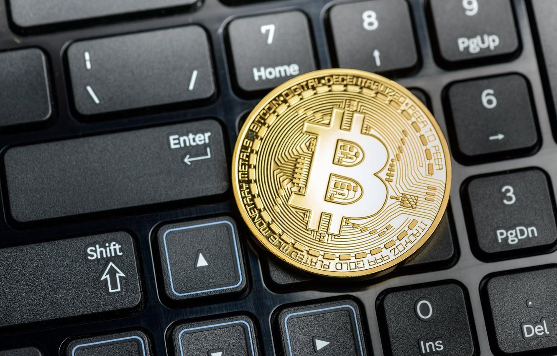 Photo wallpaper blur, button, keyboard, word, buttons, keyboard, coin, bitcoin