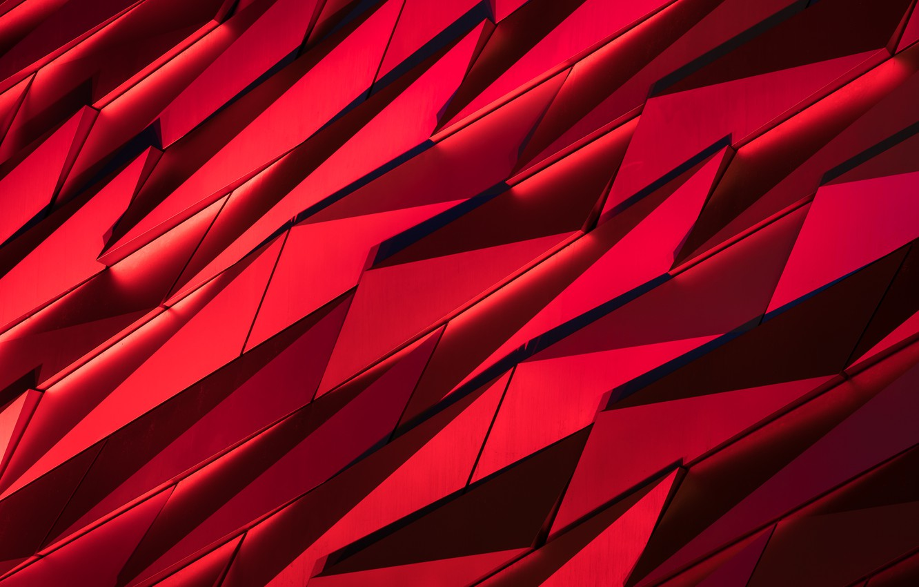 Photo wallpaper fragments, red, black