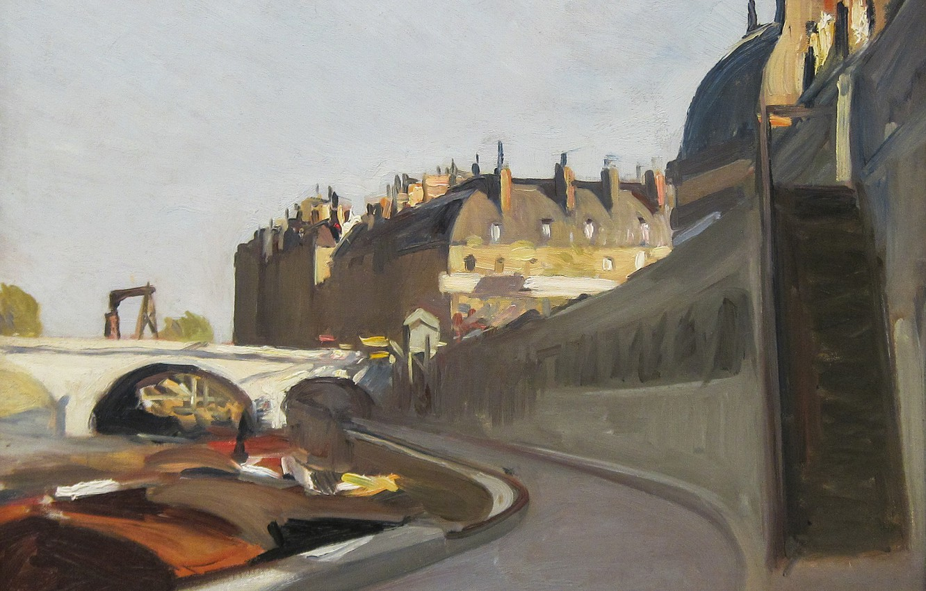 Photo wallpaper Edward Hopper, 1909, The Dock of the, Grands Augustins