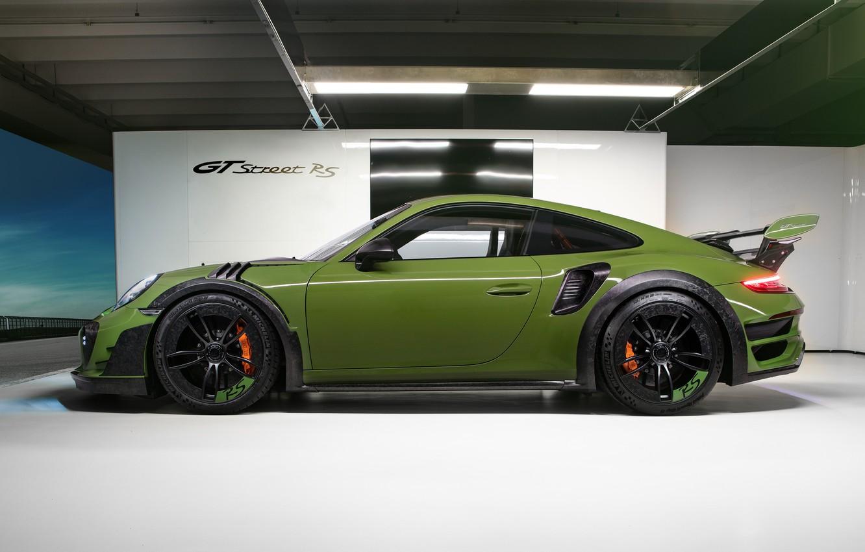 Photo wallpaper 911, Porsche, side view, Turbo S, TechArt, 2019, GT Street RS