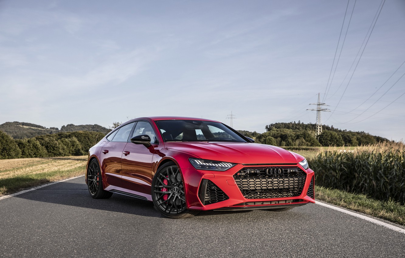 Photo wallpaper AUDI, RED, RS7