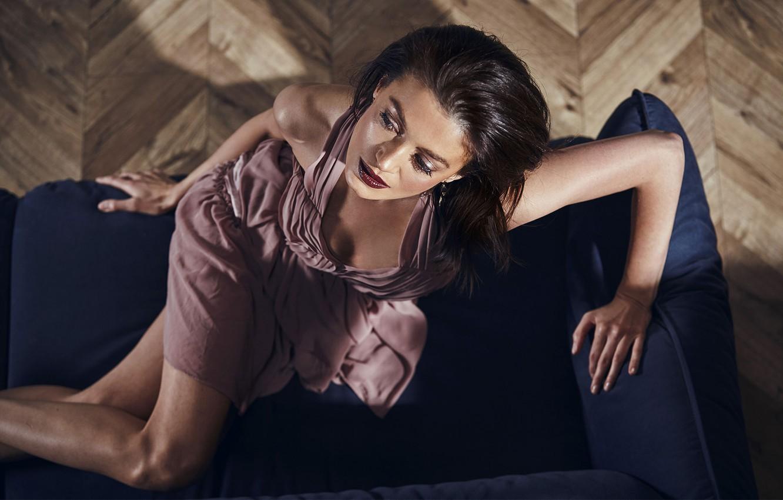 Photo wallpaper girl, pose, model, makeup, Elena Korn