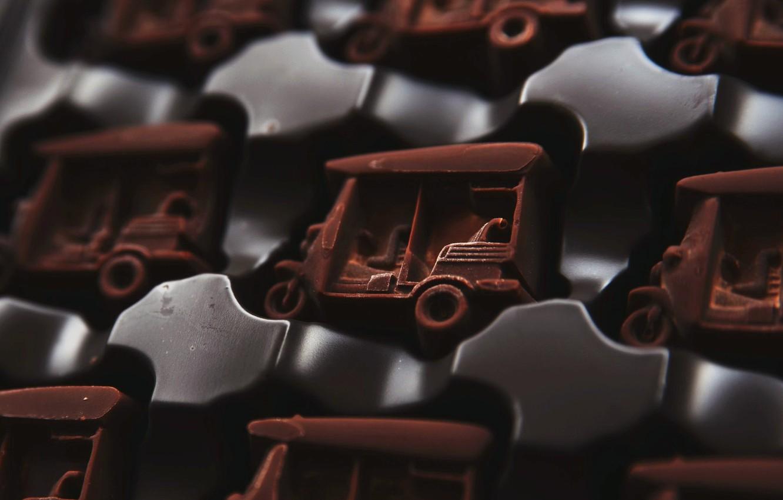 Photo wallpaper macro, chocolate, candy
