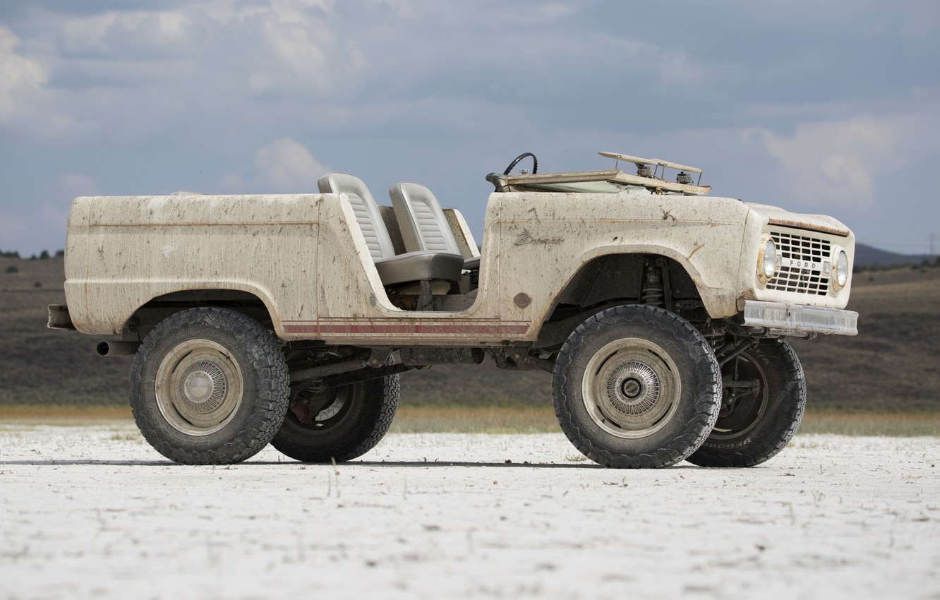 Photo wallpaper tuning, Ford, side view, 1966, 2018, Bronco, ICON Bronco Derelict Roadster