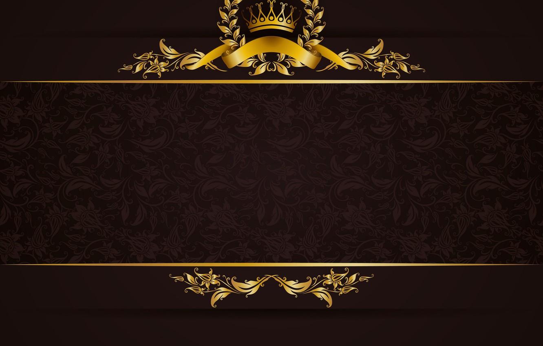 Photo wallpaper retro, gold, texture, ornament, vintage
