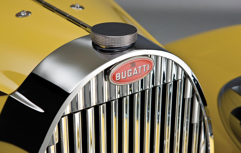 Photo wallpaper Bugatti, Classic, Chrome, 1935, Classic car, Icon, Gran Turismo, Radiator, Grille, Type 57, Bugatti Type …