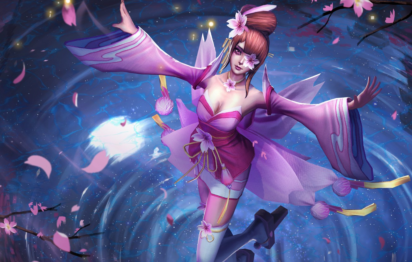 Photo wallpaper girl, hon, Sakura, Heroes of Newerth, moba, Sakura Kinesis