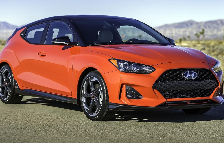 Photo wallpaper Orange, Hyundai, Veloster