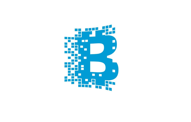 Photo wallpaper white, blue, logo, logo, blockchain, blockchain