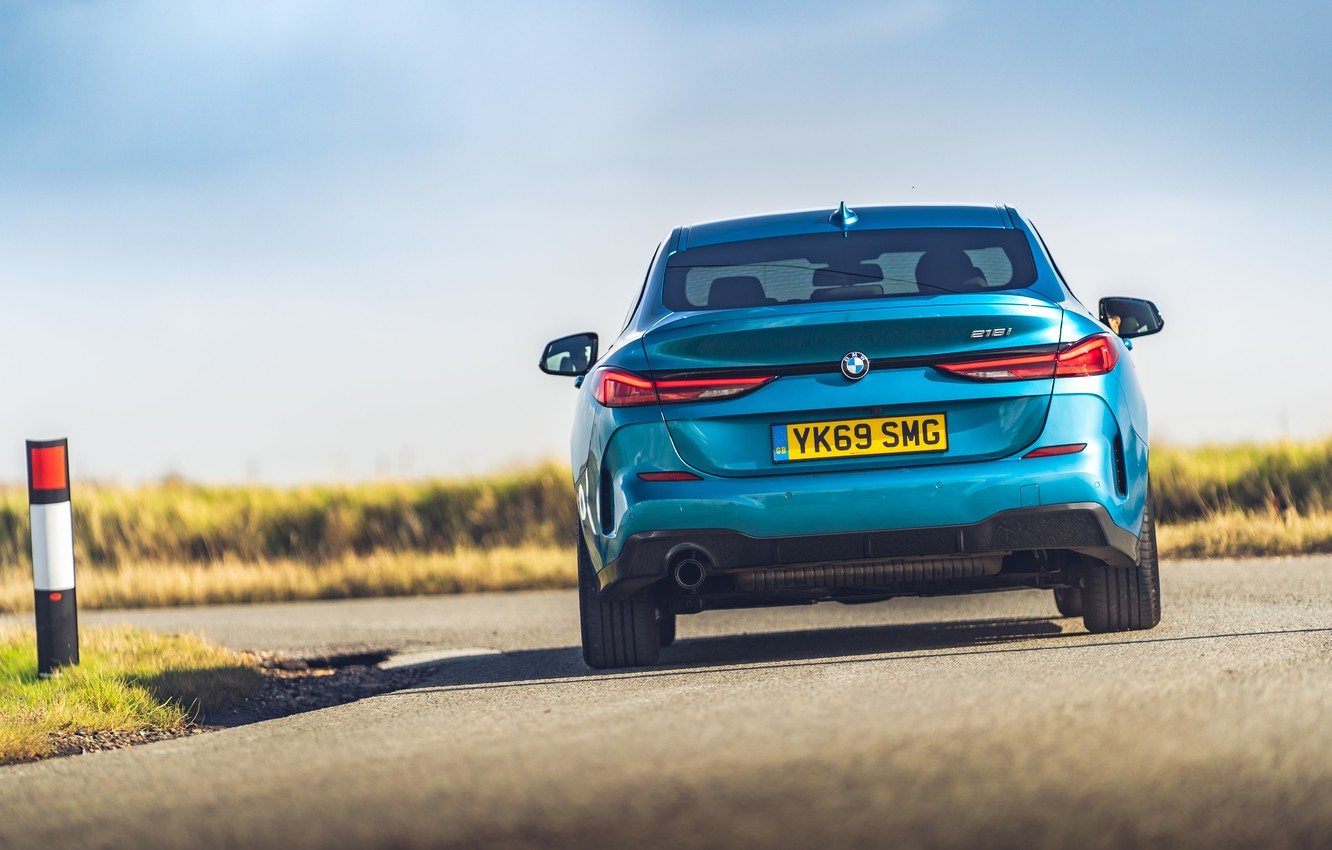 Photo wallpaper BMW, rear view, Gran Coupe, UK-spec, 2-Series, M Sport, 2020, 218i, F44