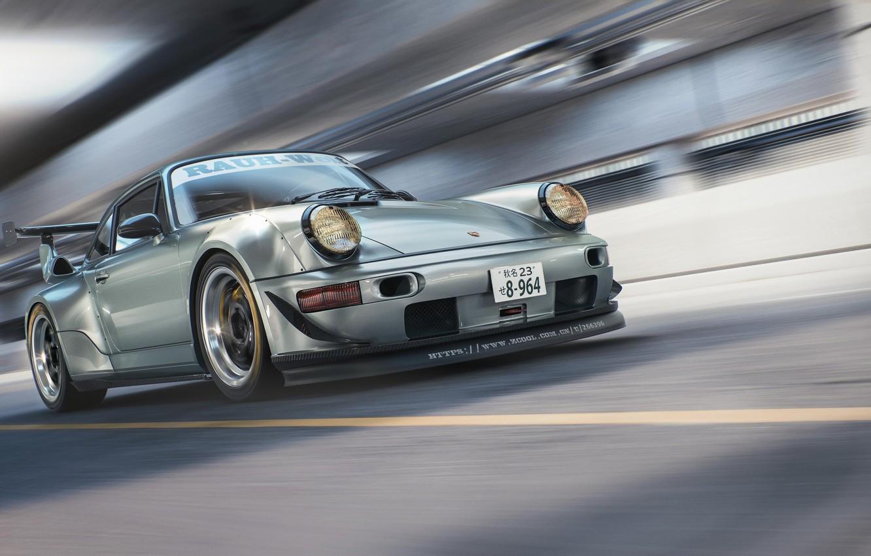 Photo wallpaper Porsche, 964, RWB, CGI, Porsche 964 RWB CGI