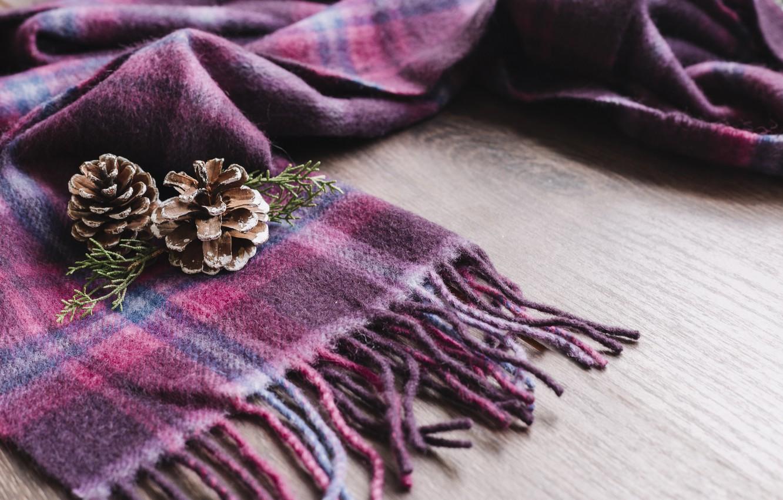 Photo wallpaper winter, scarf, bumps